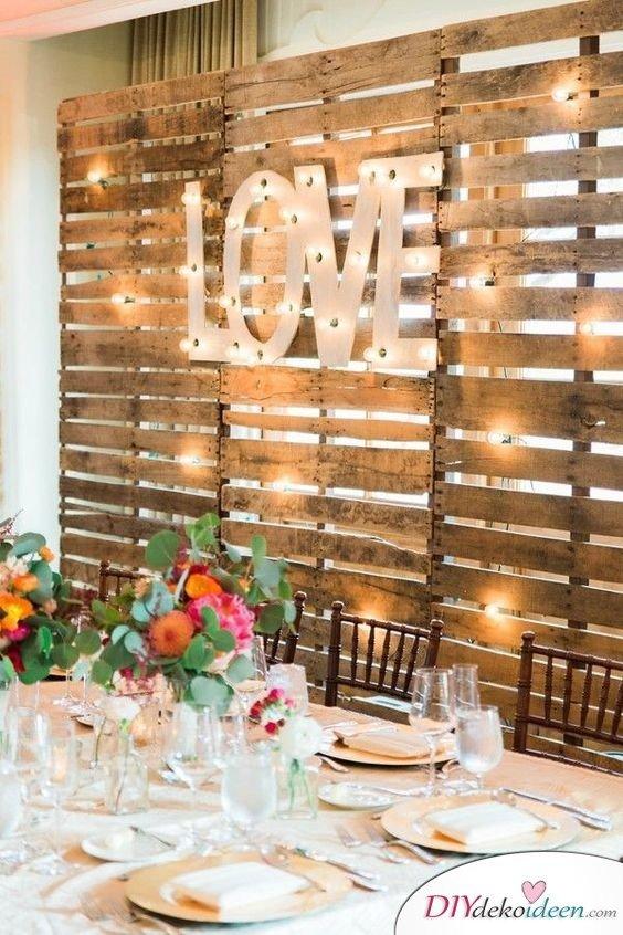 DIY Hochzeitsfoto Hintergrund - basteln mit Paletten