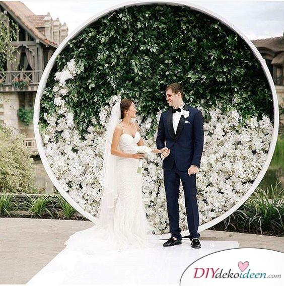 DIY Hochzeitsfoto Hintergrund - romantisch heiraten