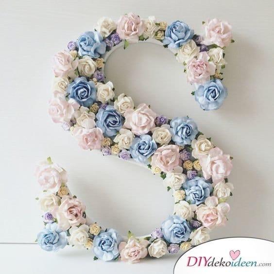 DIY Hochzeitsfoto Hintergrund - Blumendeko basteln
