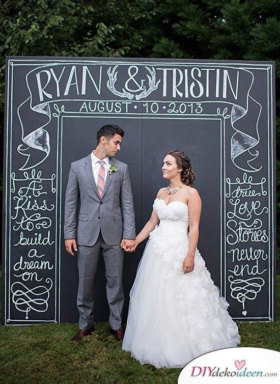 Hochzeitsfoto Hintergrund - DIY Dekoideen für Hochzeiten
