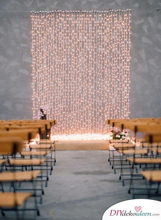 DIY Hochzeitsfoto Hintergrund - Lichterkette