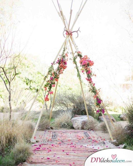 Hochzeitsfoto Hintergrund - DIY Dekoideen zum selber machen