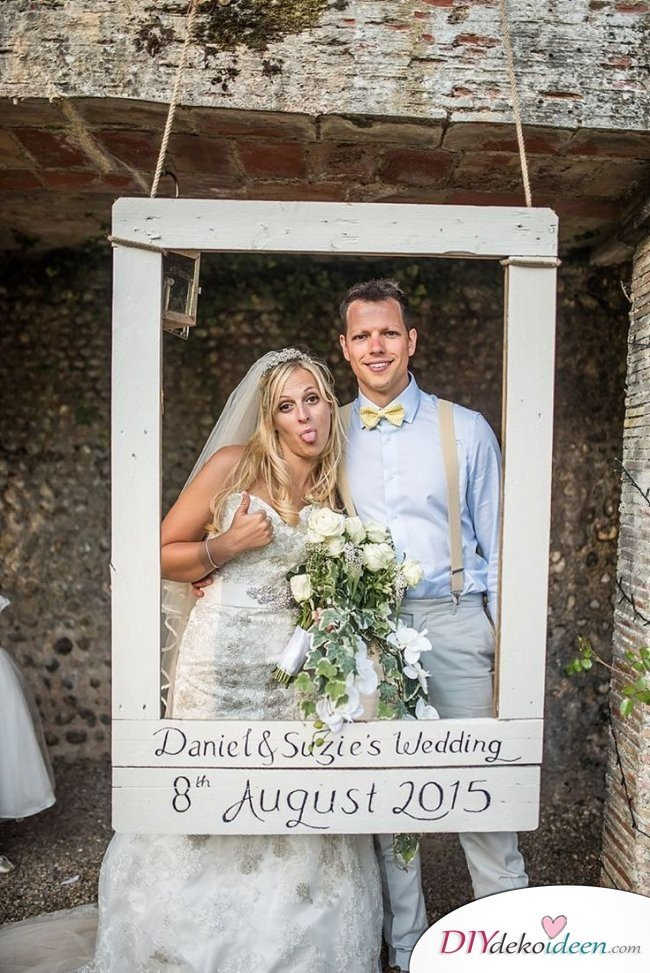 Hochzeitsfoto Hintergrund - DIY Polaroid Rahmen