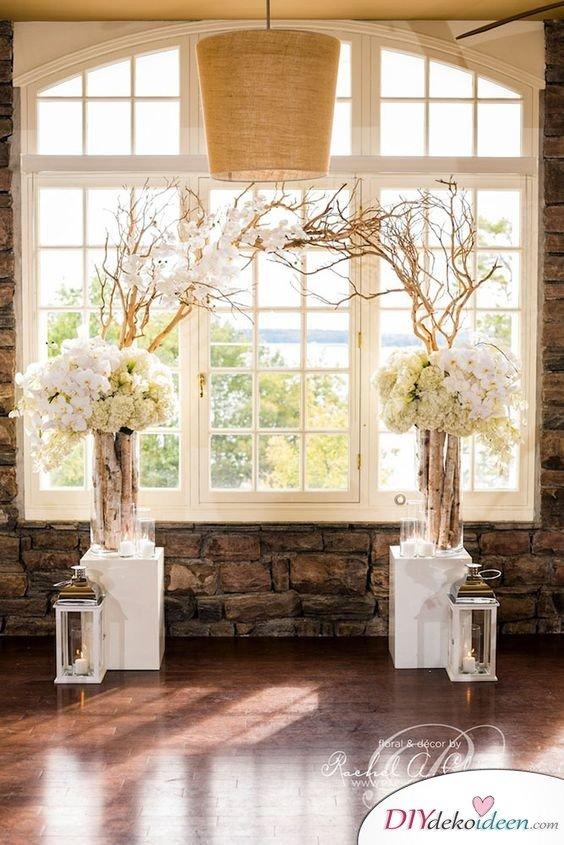DIY Hochzeitsfoto Hintergrund - Blumenschmuck selber machen