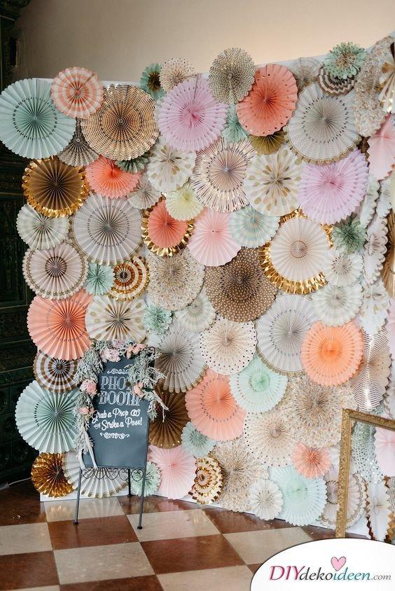 DIY Hochzeitsfoto Hintergrund - Dekoideen Hochzeit