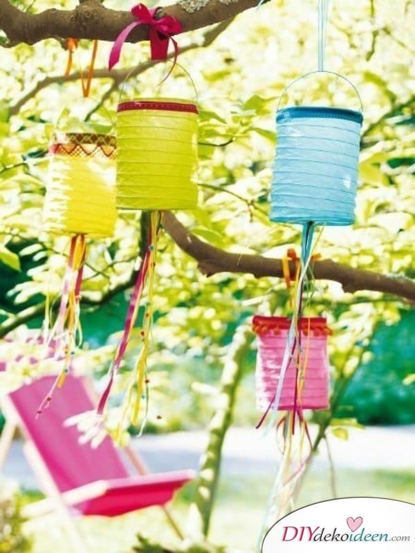 DIY Gartenparty Deko - Lampions