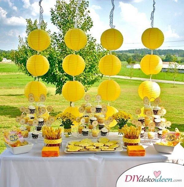 DIY Gartenparty Deko - DIY Partyideen