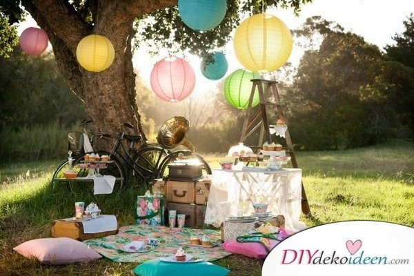 DIY Gartenparty Deko - Garten dekorieren
