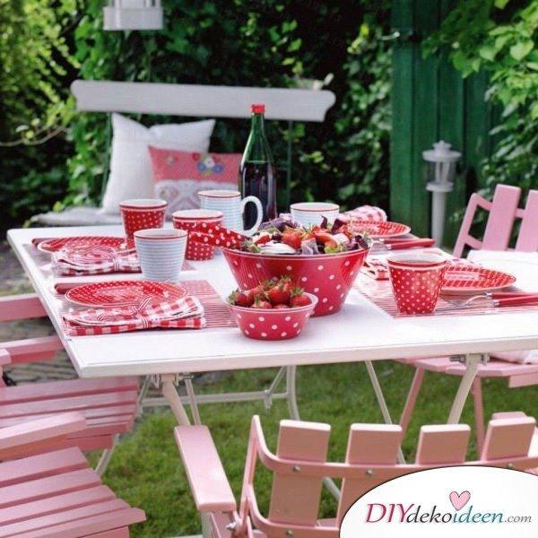 DIY Gartenparty Deko - Tischdeko fürs Feiern im Freien