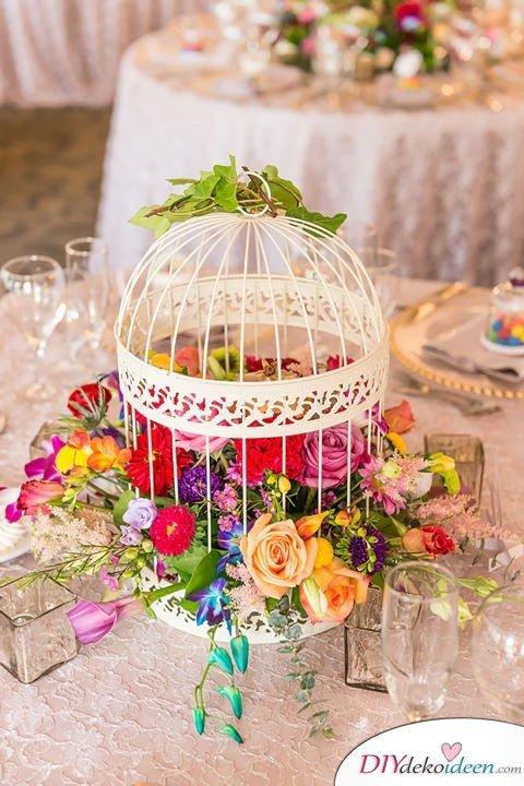 DIY Gartenparty Deko - Blumendeko - Tischdekoideen