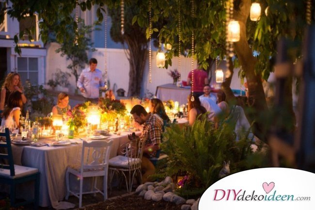 DIY Gartenparty Deko - Sommerparty Dekoideen