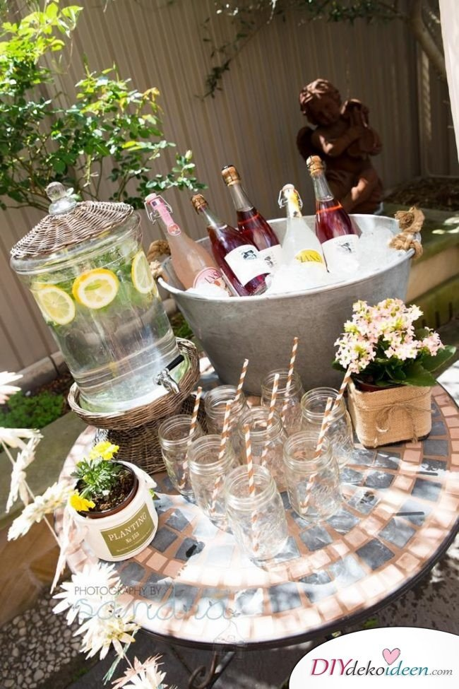 DIY Gartenparty Deko - Tischdekoideen