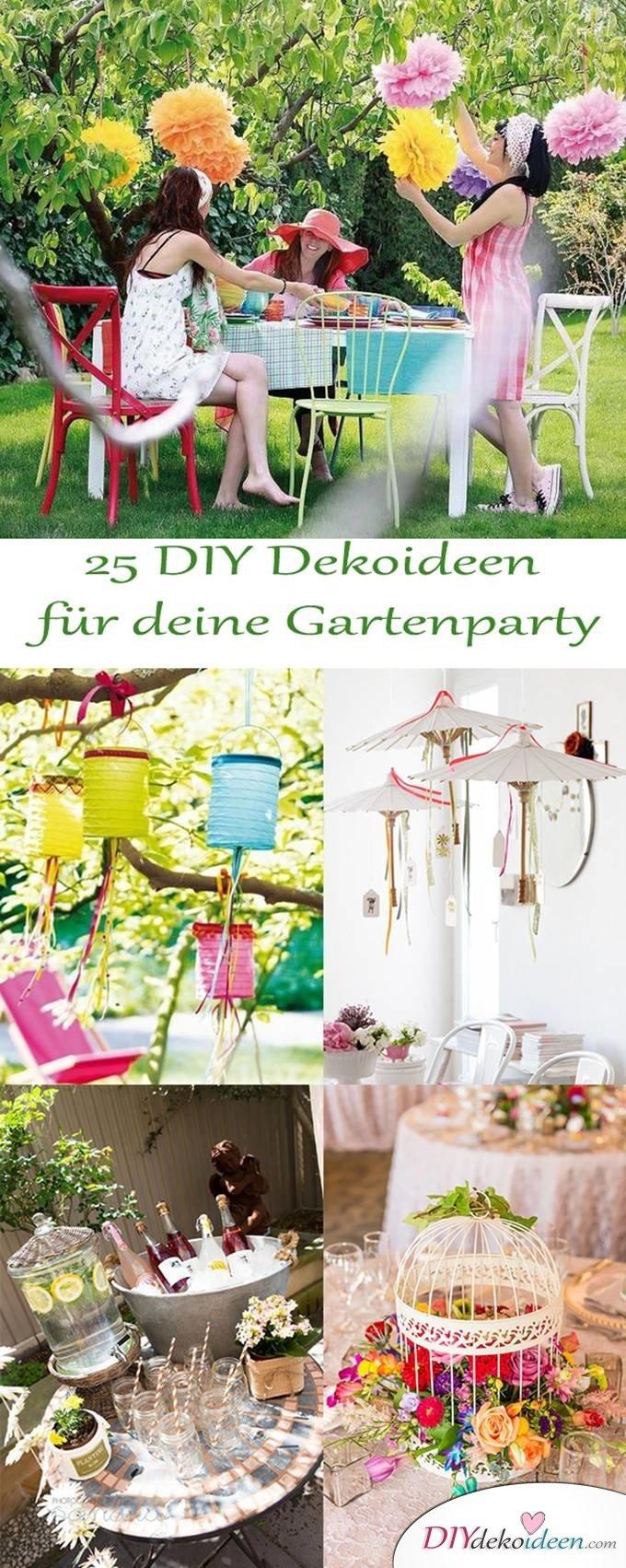 DIY Gartenparty Deko - 25 Dekoideen