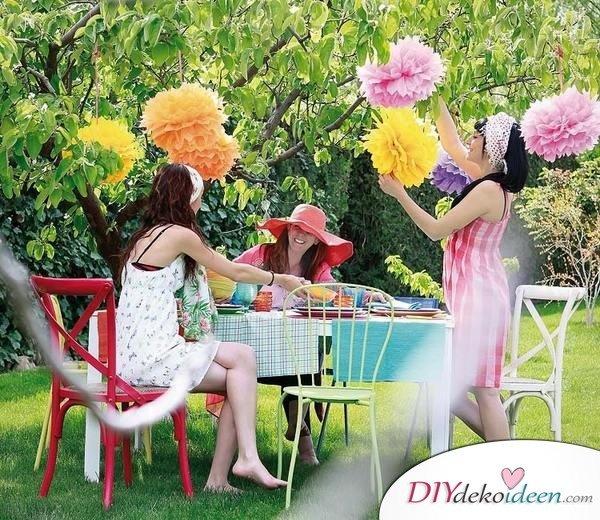 DIY Gartenparty Deko - Sommerparty