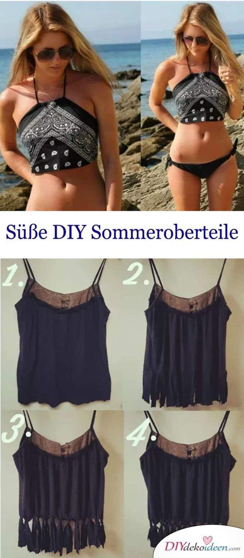 DIY Sommeroberteile - Sommerkleider näher