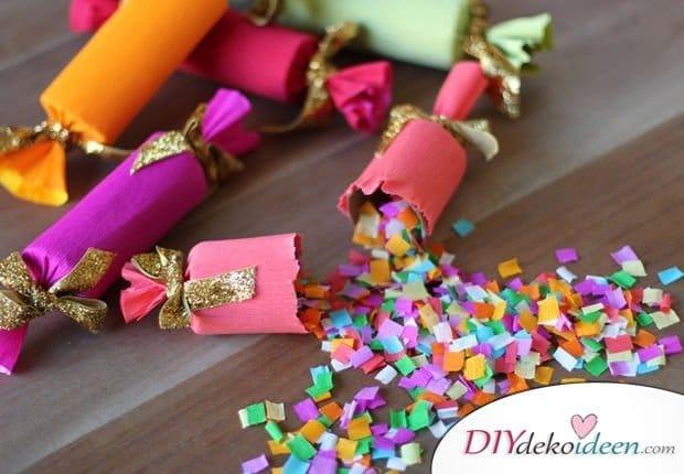 DIY Bastelideen für Kinderpartys - Konfettikracher