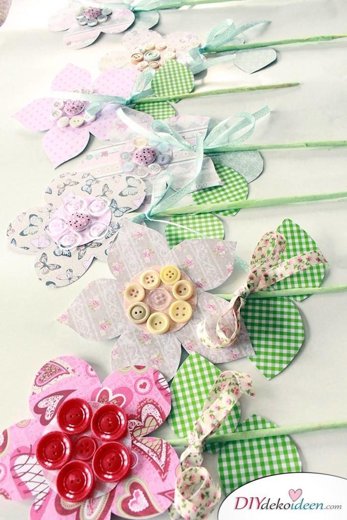 DIY Papierblumen - Muttertagsgeschenk