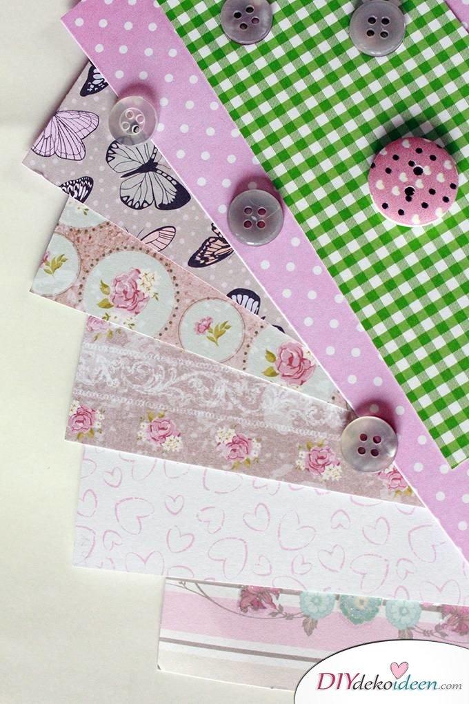 DIY Muttertagsgeschenk - Papierblumen gestalten