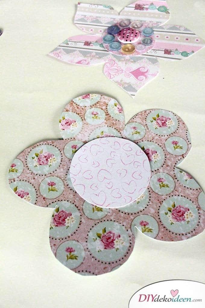 Last Minute DIY Muttertagsgeschenk - DIY Papierblumenstrauß