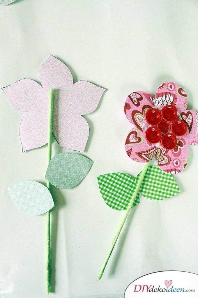 DIY Papierblumenstrauß - Muttertagsgeschenk selber machen