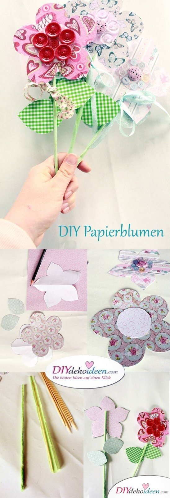 DIY Papierblumn zum Muttertag