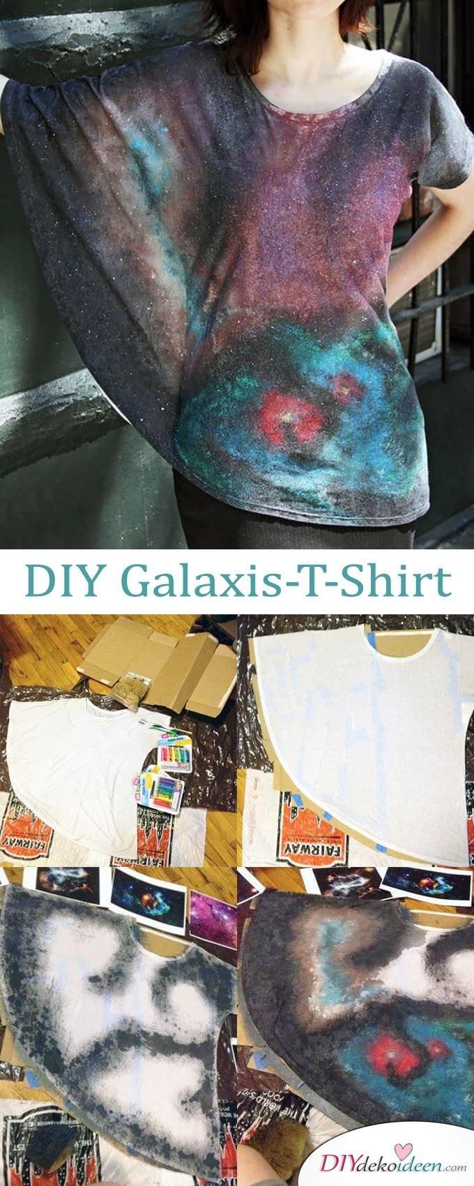 DIY Dekoideen - Galaxis Shirt