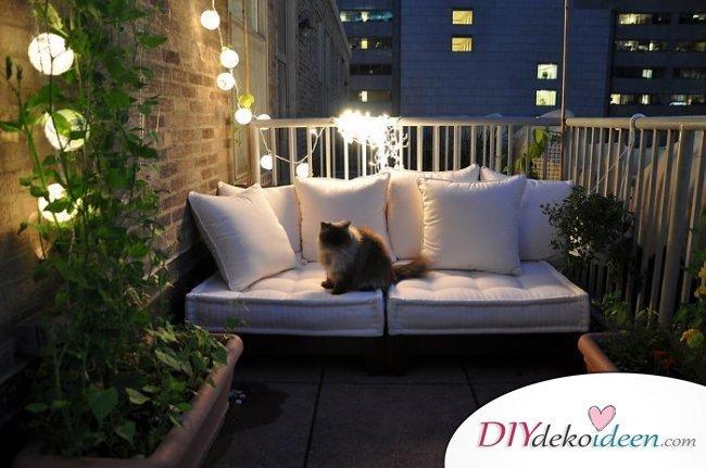 Balkon gestalten - DIY Dekoideen - Sommerparty