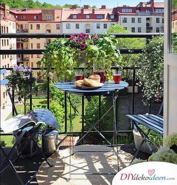 Balkon gestalten - DIY Dekoideen - Sommer