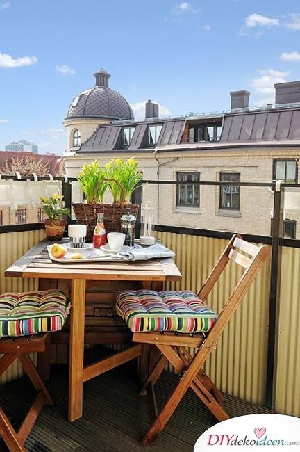 Balkon gestalten - DIY Sommerdekoideen