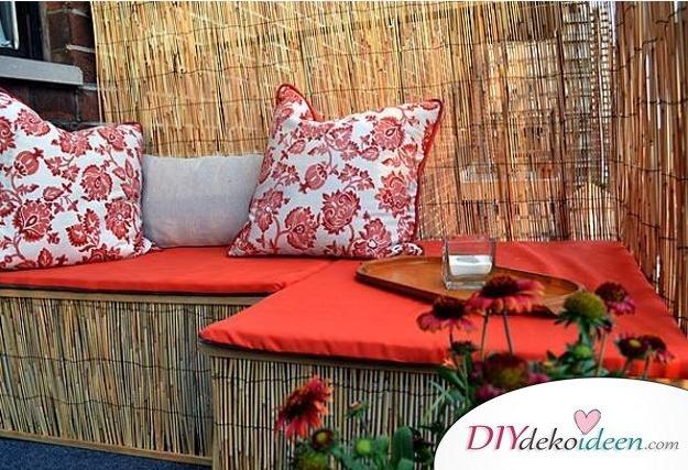 Balkon gestalten - DIY Dekoideen fürs Zuhause