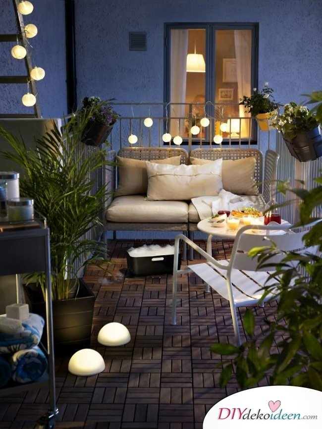 Balkon Dekoideen - DIY Deko
