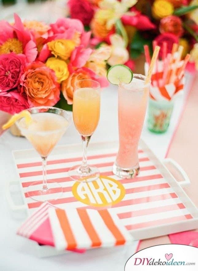 Sommertischdeko selber machen - Partydeko Ideen