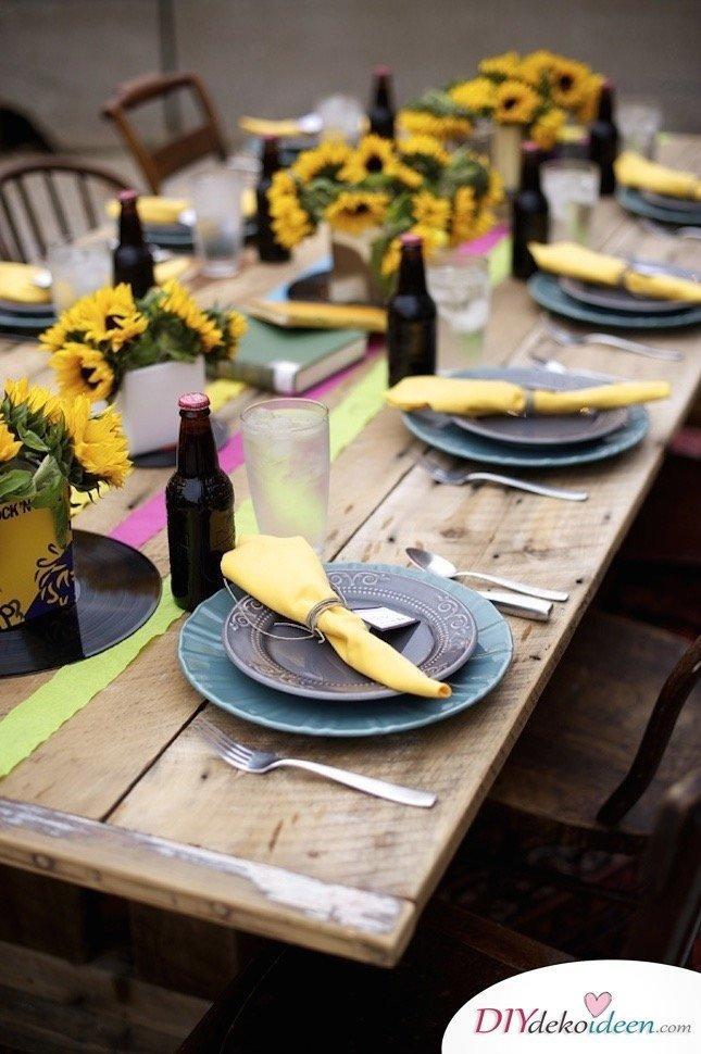 Sommertischdeko selber machen - Partydekoideen für den Sommer