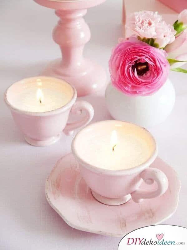 Sommertischdeko - Kerzen selber machen