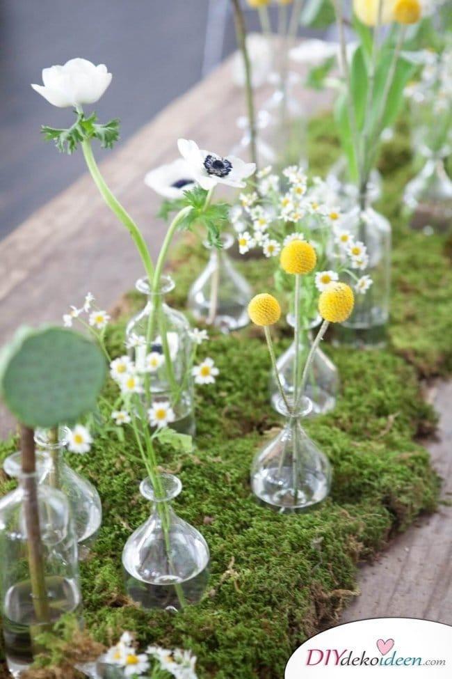 Sommertischdeko - DIY Blumendekoideen