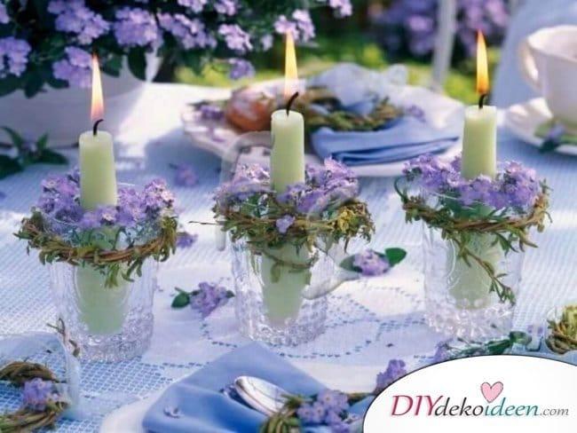 Sommertischdeko - DIY Kerzenhalter