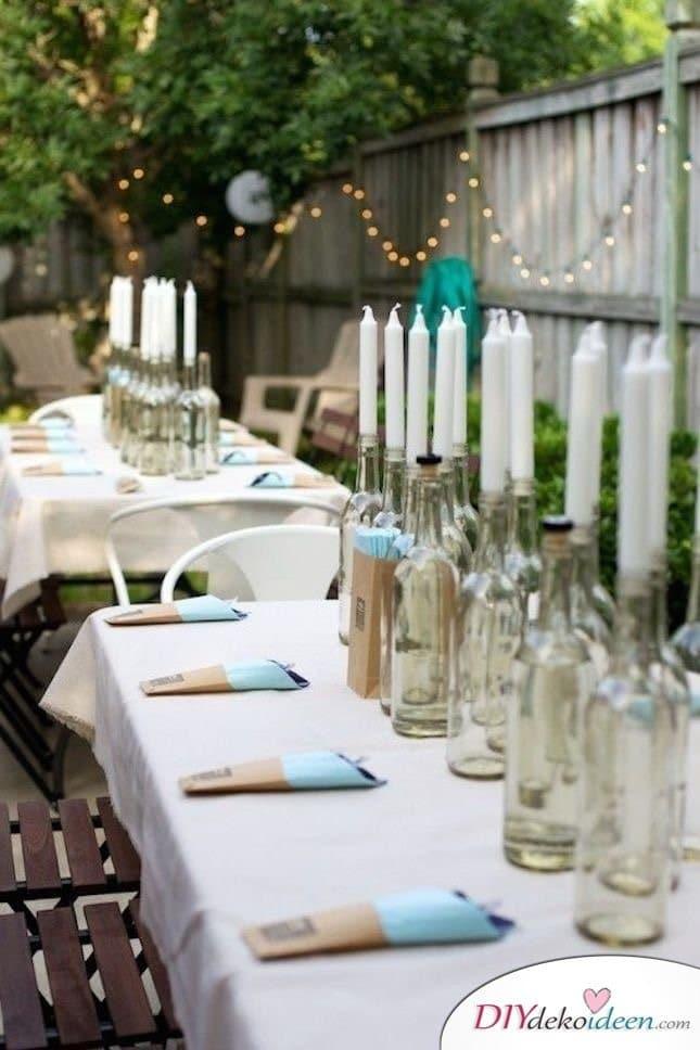 Sommertischdeko selber machen - Gartenparty
