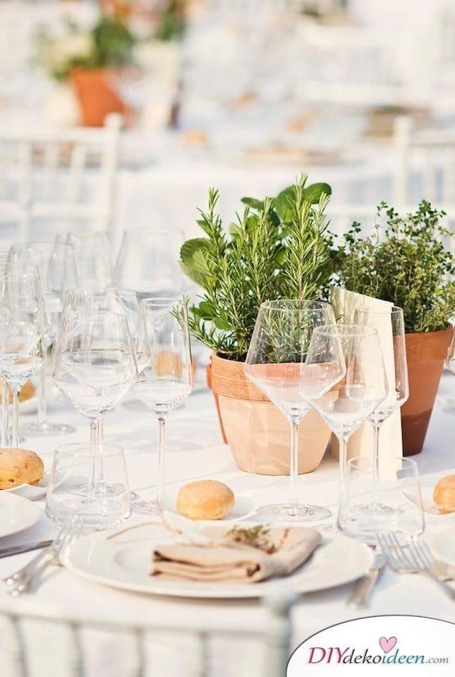 Sommertischdeko selber machen - Tischdeko Ideen