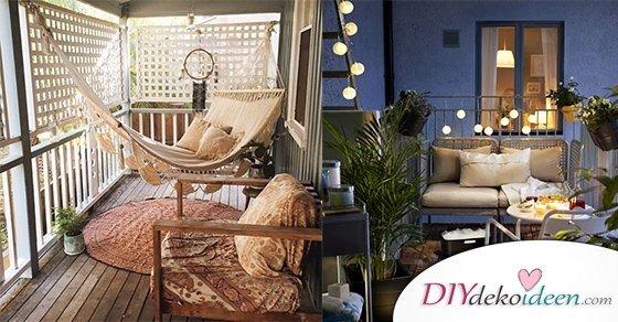 So lässt sich dein Balkon dekorieren! Tolle DIY Dekoideen für dein Zuhause
