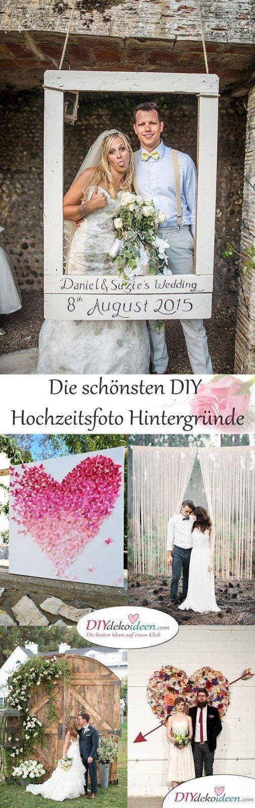 DIY Dekoideen für den perfekten Hochzeitsfoto Hintergrund