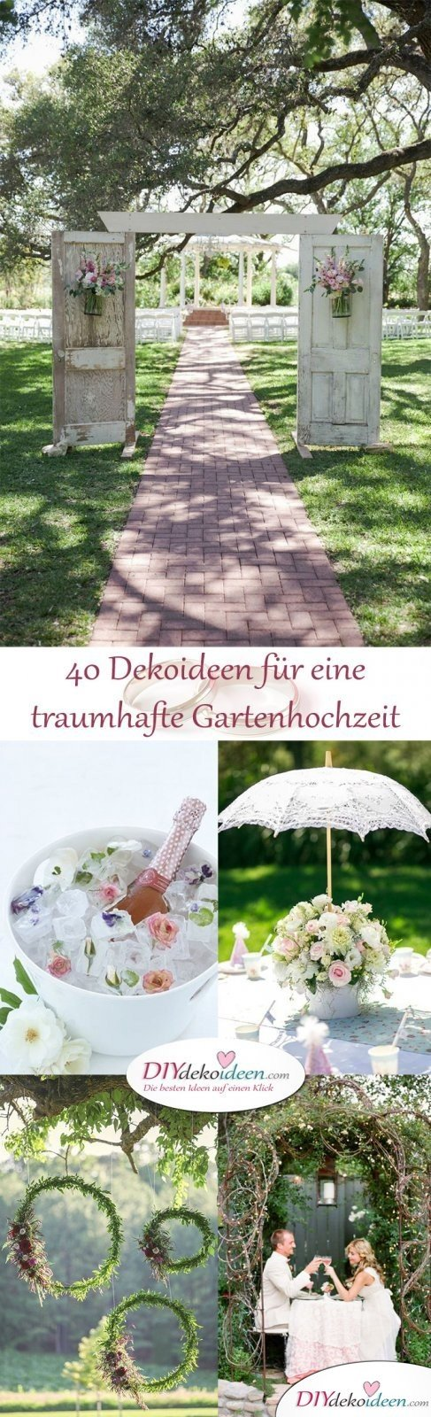 40 Diy Dekoideen Fur Eine Traumhafte Garten Hochzeit