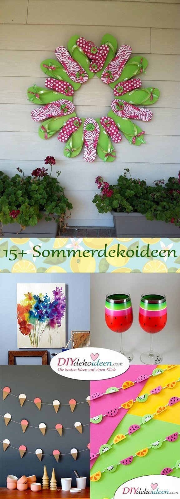 Sommerdeko - DIY Dekoideen