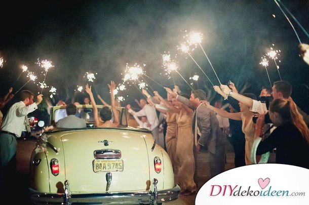 Wunderkerzen zur Hochzeit - Hochzeit Trends