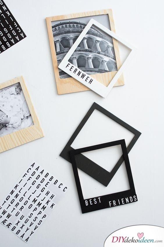 Scrapbooking - DIY Fotoalbum Ideen - Polaroidrahmen