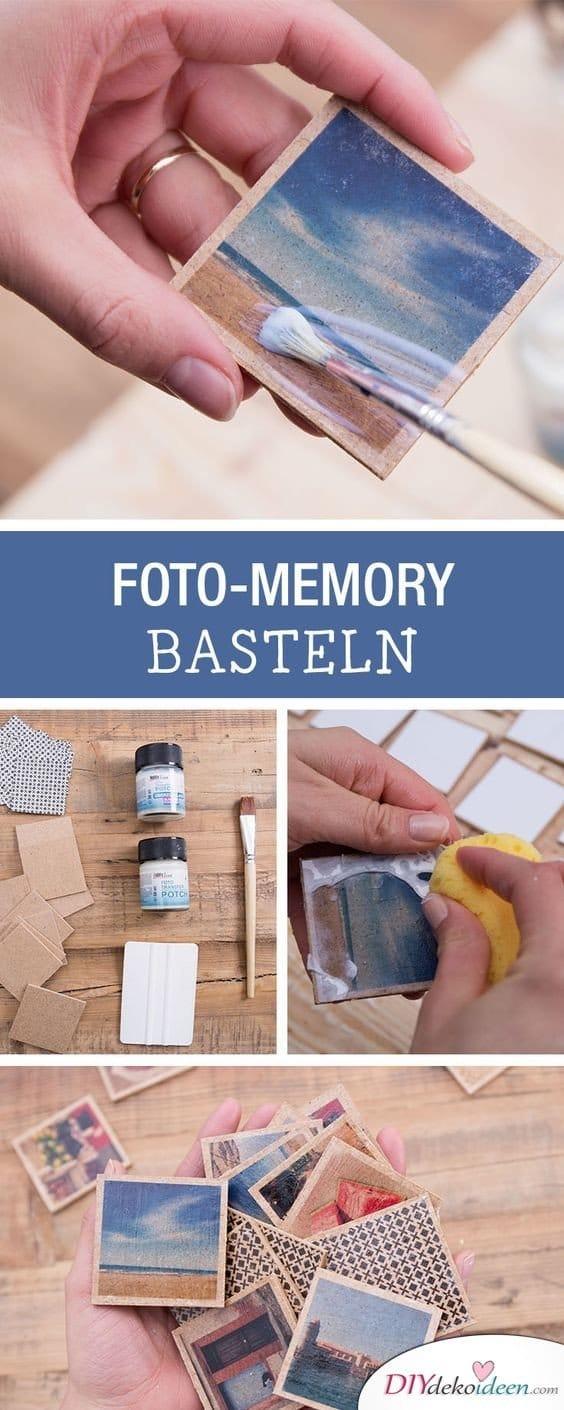 Foto Memory basteln - DIY Fotoalbum