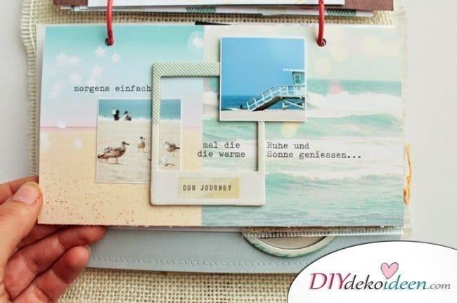 Scrapbooking - DIY Fotoalbum Ideen für Urlaubsfotos