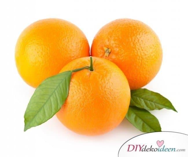 10 Hausmittel für natürlich volles Haar - Orangen