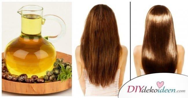 10 Hausmittel für natürlich volles Haar - Rizinusöl