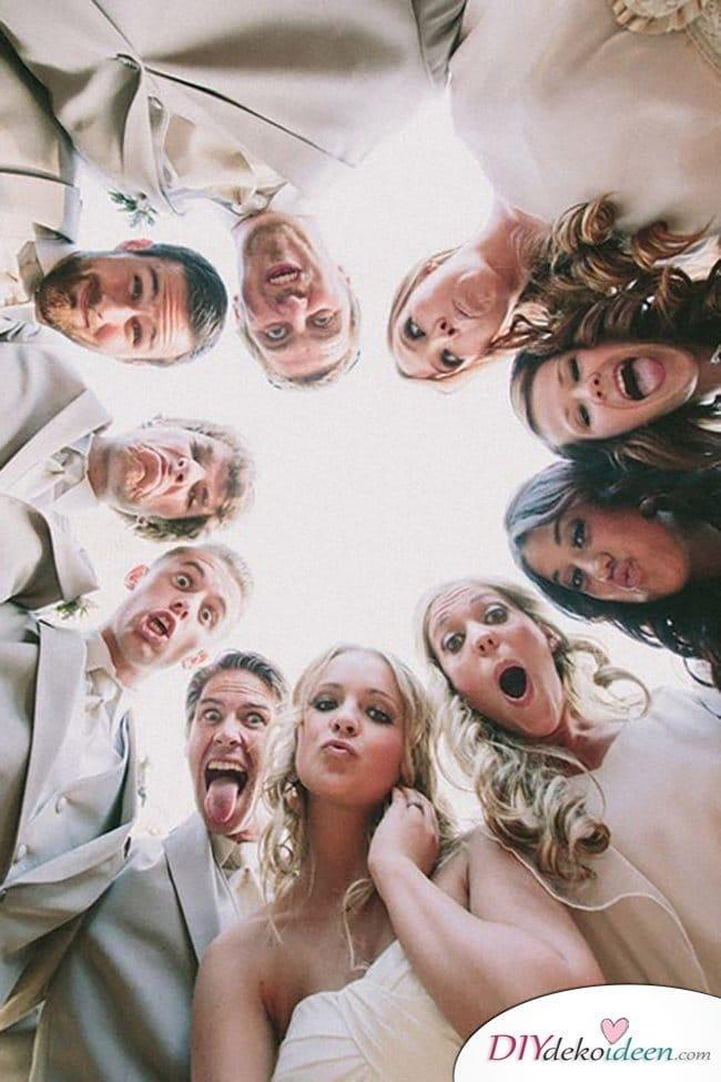 Familien Hochzeitsfotos - witzige Hochzeitsbilder