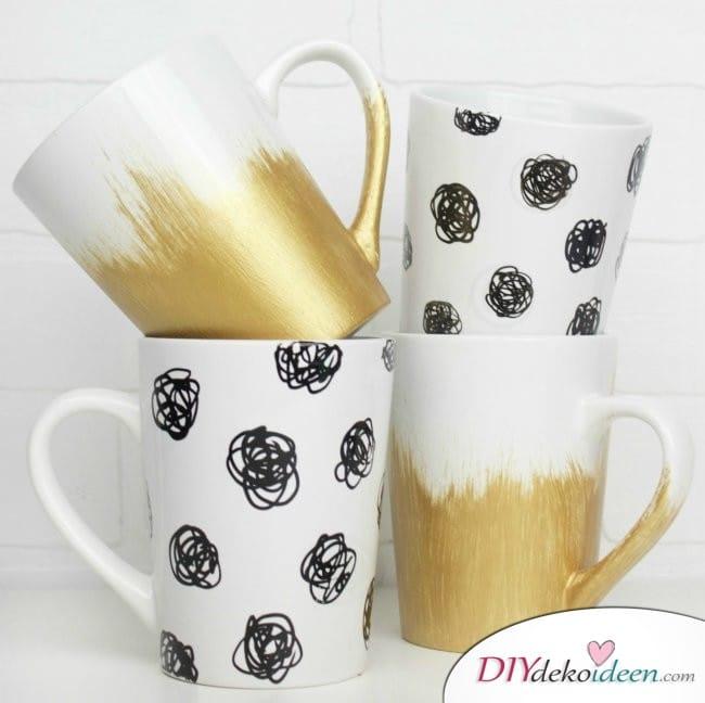 Günstige Geschenkideen - DIY Tassen